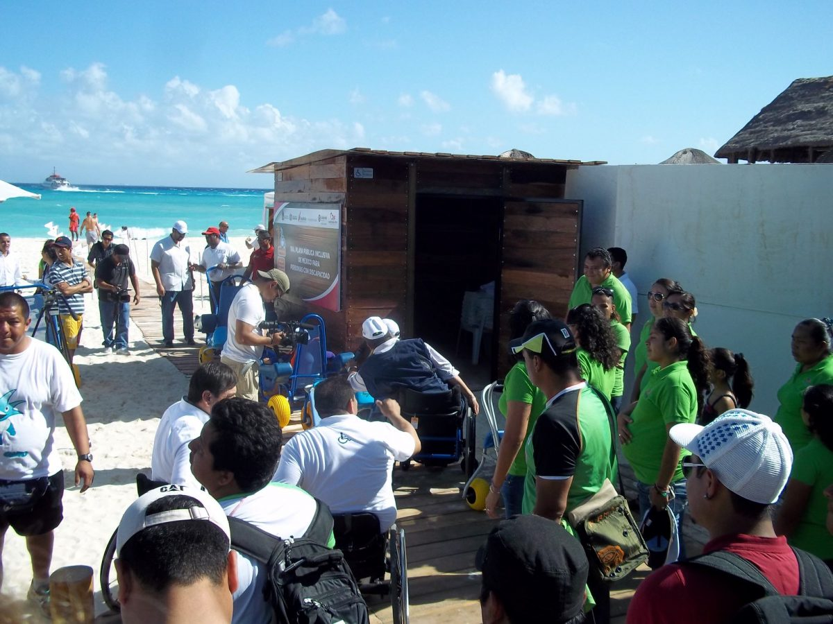 Accessible beach Playa del Carmen inauguration